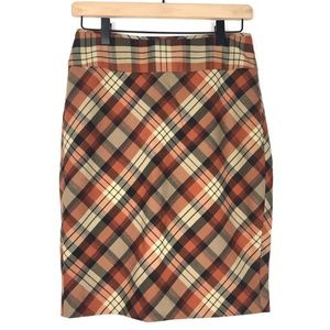 The Limited Skirt 2 Pencil Plaid Tartan Gridlock
